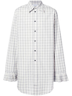 рубашка в клетку с плиссированными манжетами Chin Mens