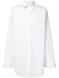 рубашка с плиссированными манжетами Chin Mens