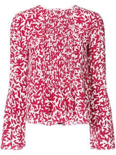 блузка с принтом Oscar de la Renta