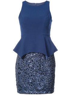короткое платье с пайетками Aidan Mattox