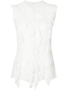 блузка с оборками Oscar de la Renta