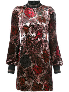 бархатное платье с цветочным принтом Marc Jacobs