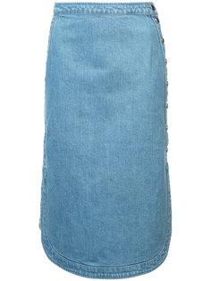 джинсовая юбка с округлым подолом Vanessa Seward
