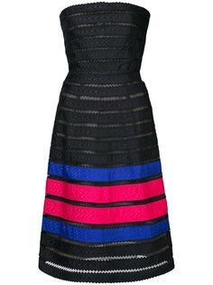 платье в полоску Oscar de la Renta