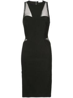 приталенное платье без рукавов Mugler