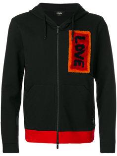 куртка на молнии с аппликацией Fendi