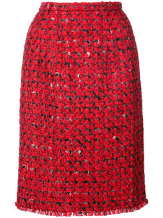 твидовая юбка-карандаш Oscar de la Renta