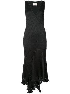 платье с люверсами и оборками Jason Wu