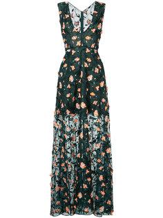 вечернее платье с цветочной аппликацией Jason Wu