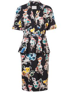платье-рубашка с цветочным принтом Jason Wu