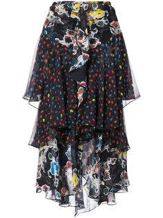 юбка с цветочным принтом и оборками Jason Wu