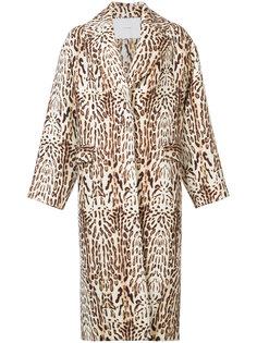 пальто с животным принтом Adam Lippes
