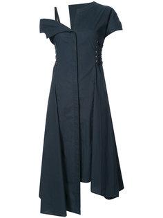 асимметричное платье миди со шнуровкой Jason Wu