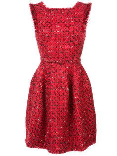 платье с бахромой Oscar de la Renta