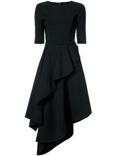платье мини с оборками Oscar de la Renta