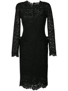 кружевное платье миди с вышивкой  Ermanno Scervino