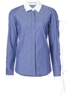 рубашка с завязками на рукавах Sandy Liang