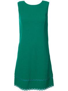 платье шифт с волнистой отделкой Oscar de la Renta