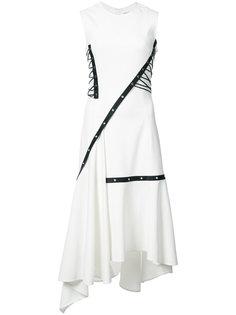 асимметричное платье со шнуровкой Jason Wu