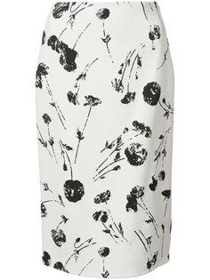 юбка-карандаш с принтом Oscar de la Renta