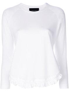 футболка с длинными рукавами и оборкой  Simone Rocha