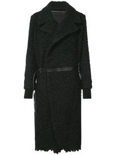 пальто с поясом Nude