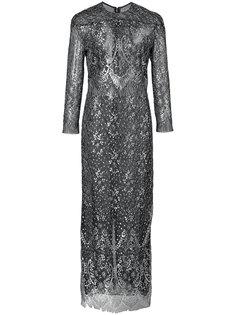 кружевное платье с барочным узором и длинными рукавами J. Mendel