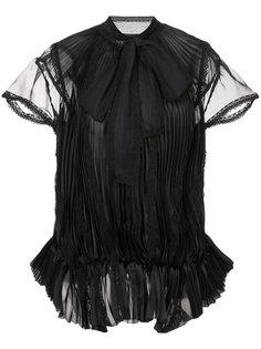 плиссированная блузка с бантом Sacai