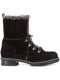 утепленные ботинки на шнуровке Stuart Weitzman