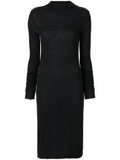 трикотажное платье с удлиненными рукавами  Rick Owens Lilies