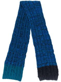 трикотажный шарф с вязкой косичка Paul Smith