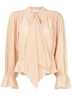 блузка с драпировками  Chloé