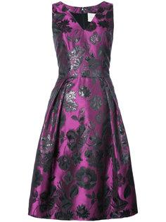 расклешенное платье с вышивкой Carolina Herrera