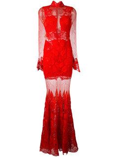 кружевное прозрачное платье макси Jonathan Simkhai