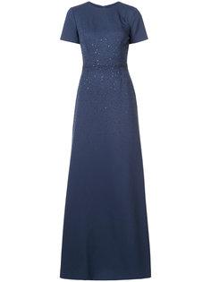 вечернее платье макси с вышивкой Carolina Herrera