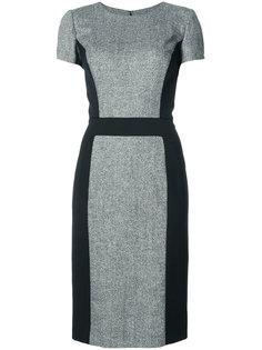 приталенное платье миди дизайна колор-блок Carolina Herrera