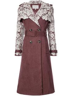 кружевное пальто с вышивкой Carolina Herrera