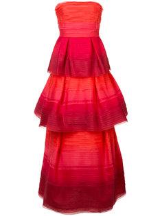 многослойное вечернее платье с эффектом градиент Carolina Herrera