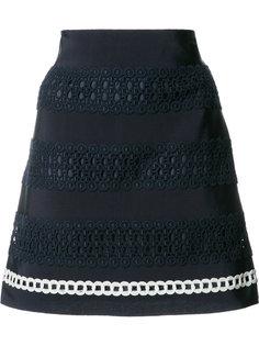 юбка с вышивкой крючком Alberta Ferretti