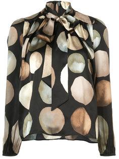 lunar print blouse Co
