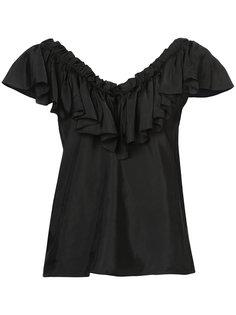ruffle neck blouse Cinq A Sept