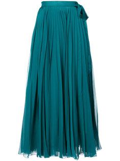 платье-рубашка с плиссировкой Carolina Herrera