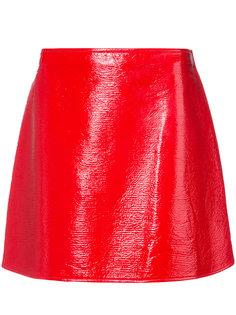 юбка мини с боковой молнией Courrèges