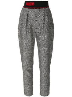 зауженные брюки с эластичным поясом Fendi