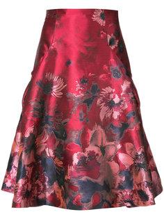 расклешенная юбка с вышивкой Carolina Herrera