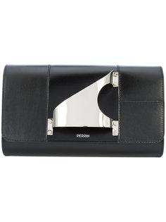 metal clutch bag Perrin Paris