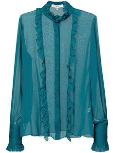 блузка с оборками и вышивкой Carolina Herrera
