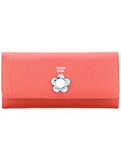 кошелек с цветочной деталью Fendi