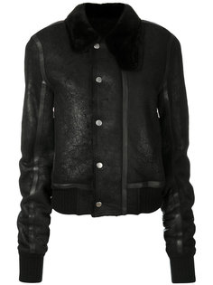 куртка с меховым воротником  Rick Owens