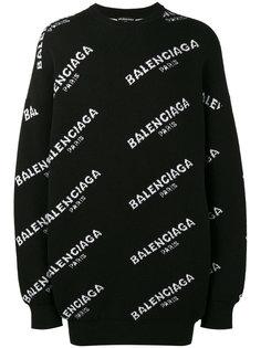 толстовка с принтом логотипа Balenciaga